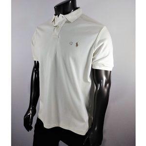 Ralph Lauren Cream Polo shirt (Custom Fit)